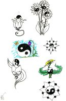 ying yang tatto designs by TicChallis