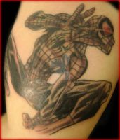 spidet man tattoo by kamuyart