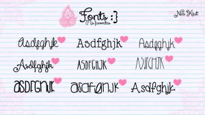 Mis fonts favoritas por Nia Kiut by Niakiut