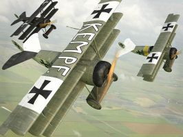 Fokker Dr.1 by Oxygino