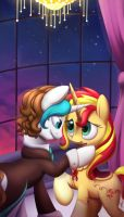 *Com* Dandy and Sunset by DivLight
