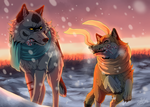 December + SPEEDPAINT by Sally-Ce