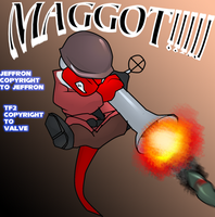 TF2 jeff the soldier MAGGOT by Justathereptile