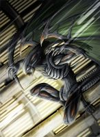 Flying XENOMORPH 01 by Vinz-el-Tabanas