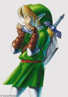 Link - Ocarina of Time by Quelchii