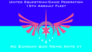 The Flag of the UCEF 15th Assault Fleet by PilotSolaris