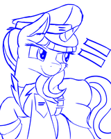 Equalist - Starlight Glimmer (Sketch) by NiegelvonWolf
