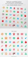 School and Education Icons by ottoson