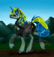 Commission - Piridian Dawn Dew by tasertail