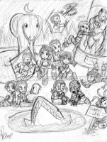 Resident Evil 1: Chibi Mess by I-heart-Link
