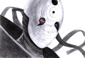 Obito Uchiha drawing. Updated!! by yuri123454321