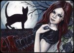 ACEO -- Gothic Moon by ElvenstarArt