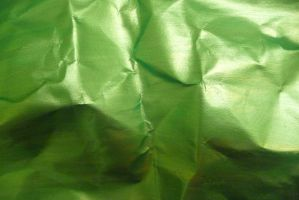 Crumpled Green Paper 2 by Niedec-STOCK
