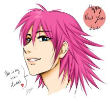Marluxia - Happy New Year 2011 by x-Lilou-chan-x