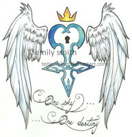 Kingdom Heart Tattoo design by TenguxChan