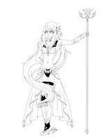 Valkyrie- Lineart by TheULTImateAngel