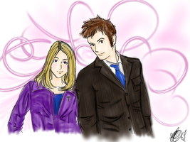 The Doctor and Rose by rhamana