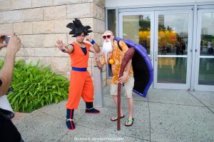 Master Roshi and Goku by worldcollider