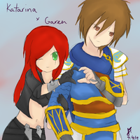 League of Legends: Garen x Katarina by TheMuteMagician