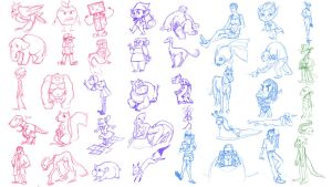 40 character designs by BeatFu