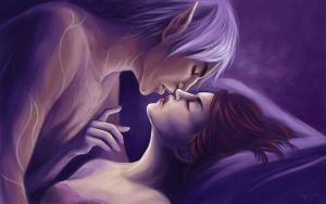 Dragon Age 2: Emeline and Fenris by Riku-Noiro