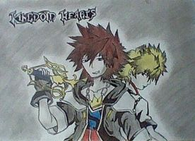 My old Kingdom Hearts drawing!!! by Vocalizer