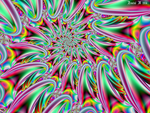 Trippy Neon Spiral 2 by fraxialmadness3