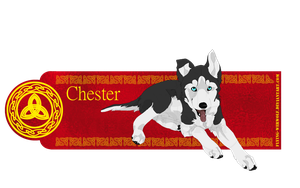 Chester Pup Bookmark by NathalieNova