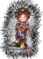Doctor Doodle -Rainbow Scarves by lizzie9009