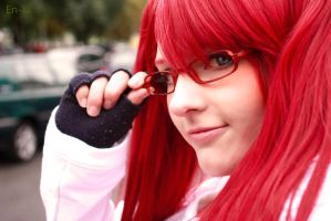 Red hair, red glasses by Zhenya-Chan