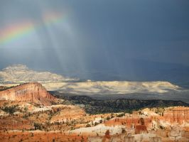 Rainbow over Bryce by Oddstuffs
