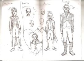 Founding Fathers sketches by CallThePatentOffice