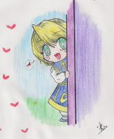 Childish: 'I'm Here'~! Kurapika-chibi.. by Rudi-Chama