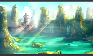 Xanghiu lands-Speed painting by Rbz-art