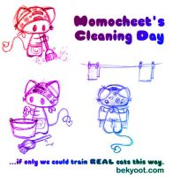 Momocheet's Cleaning Day by lafhaha