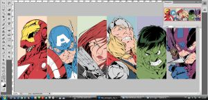The Avengers - Beginning coloring process  by johncastelhano