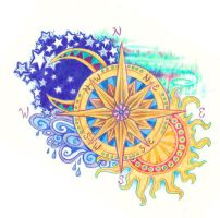 compass rose by Kittencaboodles