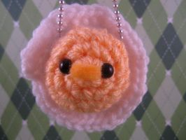 Amigurumi Fried Egg Keychain by AmiTownCreatures