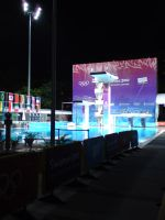 Diving area at toa payoh pool by DracuLeon