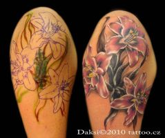 Flower pink tattoo by Daksi