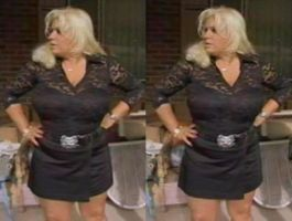 3d Busty BBW Beth Chapman Black Lace and Mini by 3dpinup