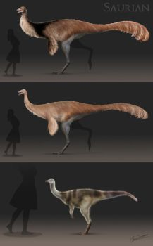 Hell Creek Ornithomimid by ChrisMasna