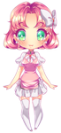 Pink Old Oc Chibi - colored by rika-dono