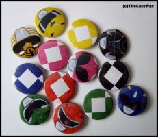 .:Power Rangers badges:. by SaMtRoNiKa