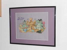 Beach Dragons Framed by Joce-in-Stitches