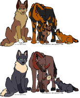 Wolf adoptables. by poisonflame
