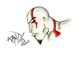 Kratos iPad drawing by AShinati