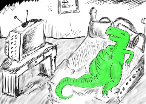 Relaxin' Rex by ThomLawAnimations