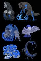 Waterlily Creature Set by Shadow-Wolf