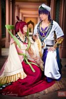 Magi - Kougyoku Ren and Sinbad by Calssara